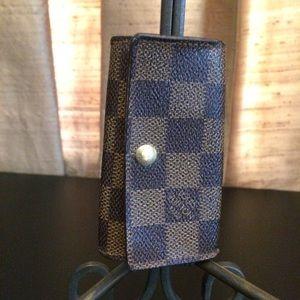 Louis Vuitton Damier Ebene 4 Key Case-Authentic